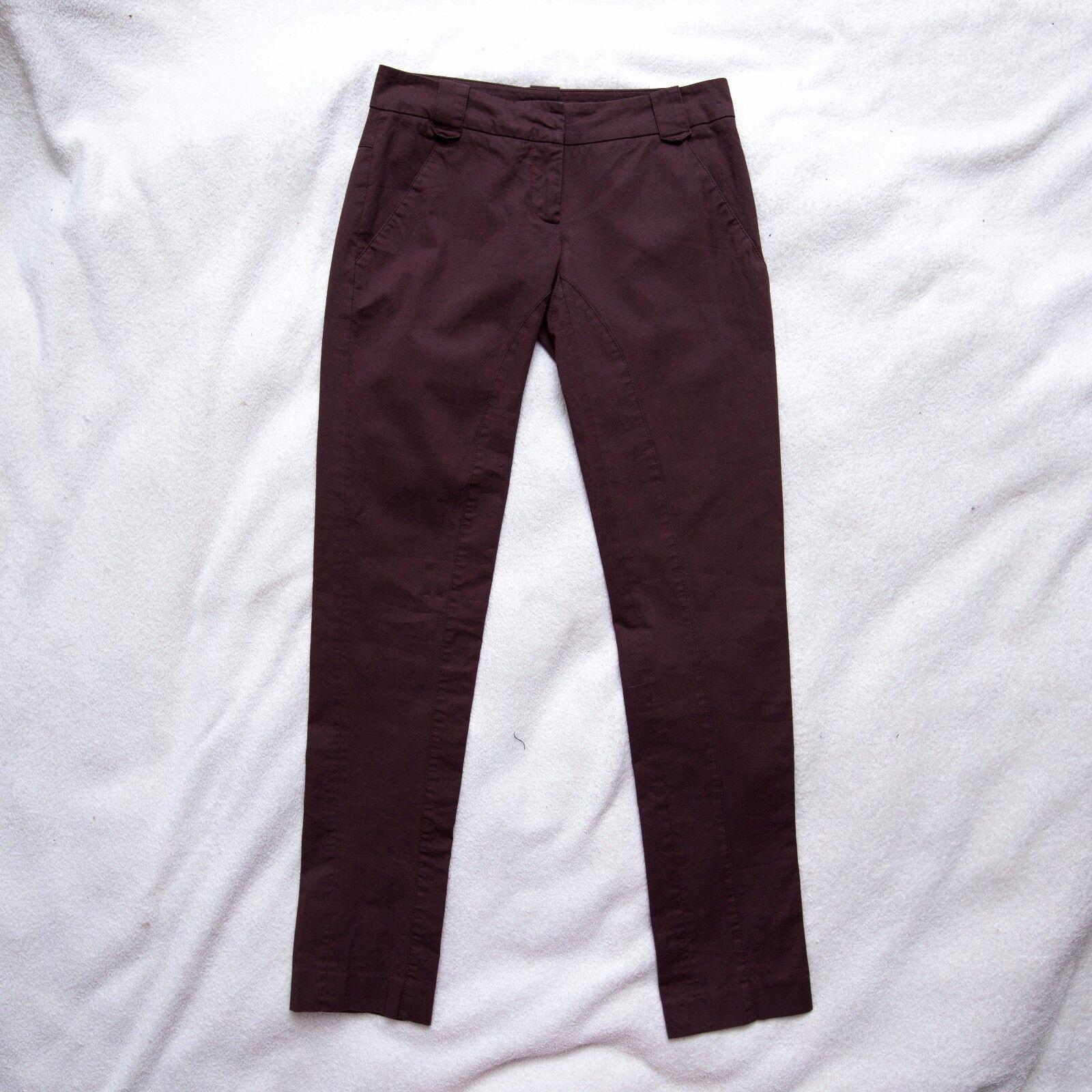 Patrizia Pepe Firenze Brown Skinny Cotton Pants IT38  200 0x30