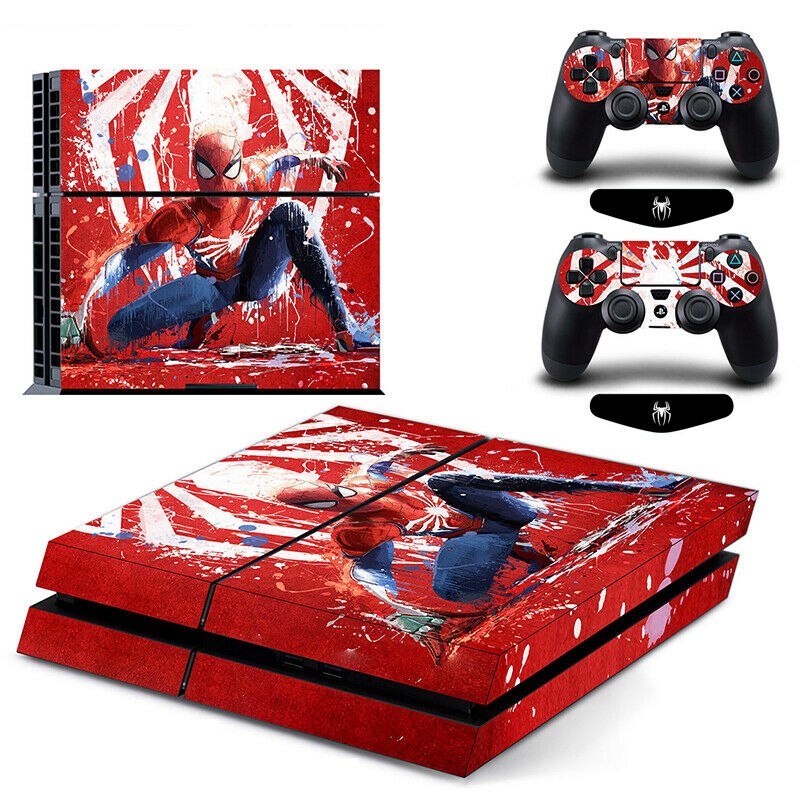 Spider Man Marvel Hero Decal Skin Stickers Cover for PS4 Console Controllers