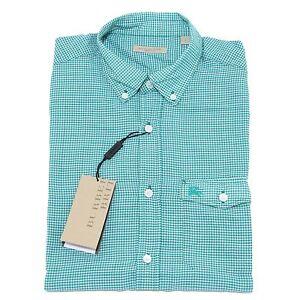 9647M-camicia-manica-corta-uomo-BURBERRY-BRIT-verde-shirt-men
