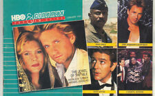 HBO and Cinemax Guide January 1987 KATHLEEN TURNER & MICHAEL DOUGLAS Cover