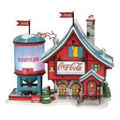 Dept 56 North Pole Village New 2019 COCA COLA BUBBLER 6003110 Department 56 Coke