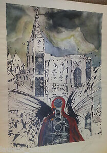 SALVADOR-DALI-LES-ALSACE-HAND-SIGNED-LITHOGRAPH-SNCF-FRENCH-RAILROAD-BUTTERFLIES