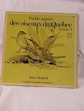 Rare Vinyl LP Album Guide Sonore des Oiseaux du Québec Vol.1 Diskade Records