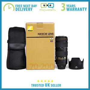 Marke-Neu-Nikon-AF-S-Nikkor-70-200mm-f-2-8e-FL-ED-VR-Objektiv-3-Jahr-Garantie