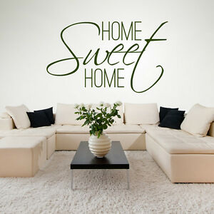Home Sweet Home Wall Sticker Family Quote Wall Decal Kitchen ...