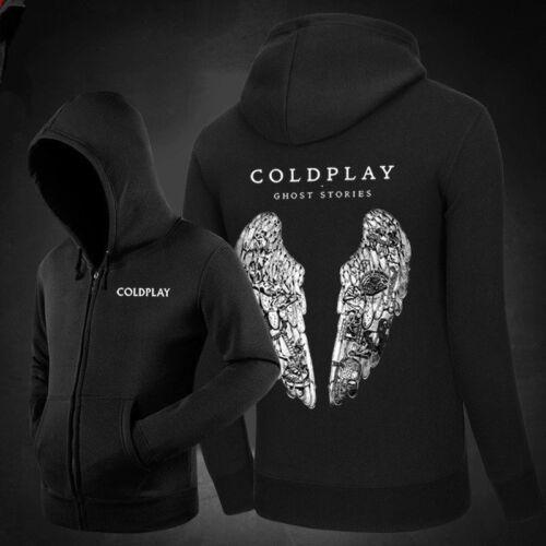 COLDPLAY Hooded Sweatshirt ROCK PUNK Music Band Mens Womens Zip Hoodie Pullover