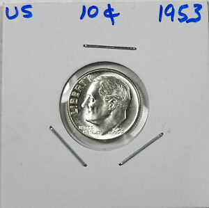 1953-D Roosevelt Dime   Choice to Gem Uncirculated Free Shipping