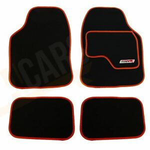 UKB4C Tailored Logo Velour Carpet Floor Mats for A6 C6 2004-2011 4PCS