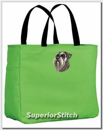 SCHNAUZER embroidered essential tote bag ANY COLOR