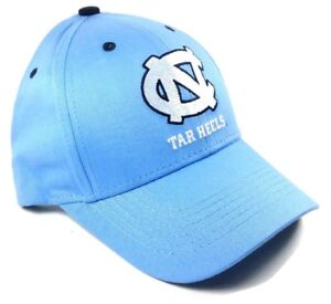 f3dd8871cbd UNIVERSITY OF NORTH CAROLINA BLUE UNC TAR HEELS ADJUSTABLE HAT CAP ...