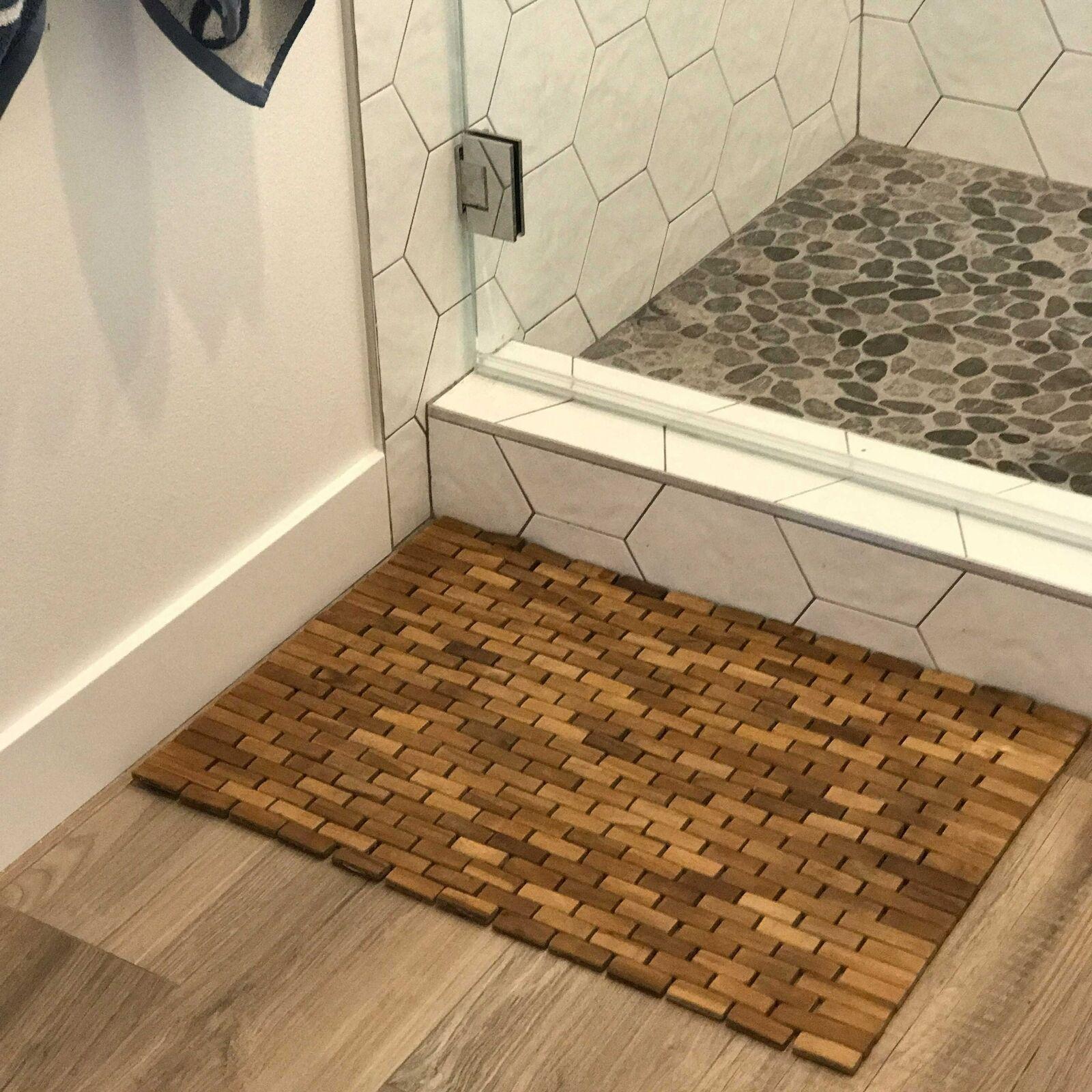 Shower And Floor Mat Hip O Modern Living Foldable Teak Indoor Outdoor Bath Non Slip Appliques Mats