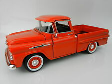 1:24 MOTOR MAX 1958 Chevrolet APACHE Fleetside PICKUP TRUCK *ORANGE* *DIECAST*