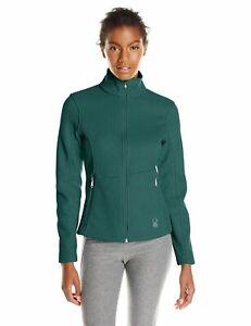 Spyder Womens Endure Full Zip Jacket Core Sweater Cove Teal Fleece Lined