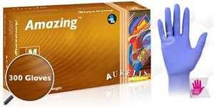 AURELIA AMAZING Thin Nitrile Powder/Latex Free Violet Examination Gloves 300/BX