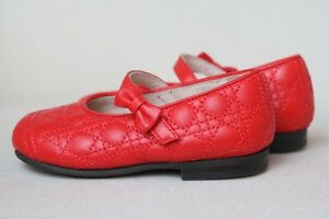 d5af37087e3 DIOR BABY GIRLS RED LEATHER CANNAGE SHOES EU 21 UK 4.5