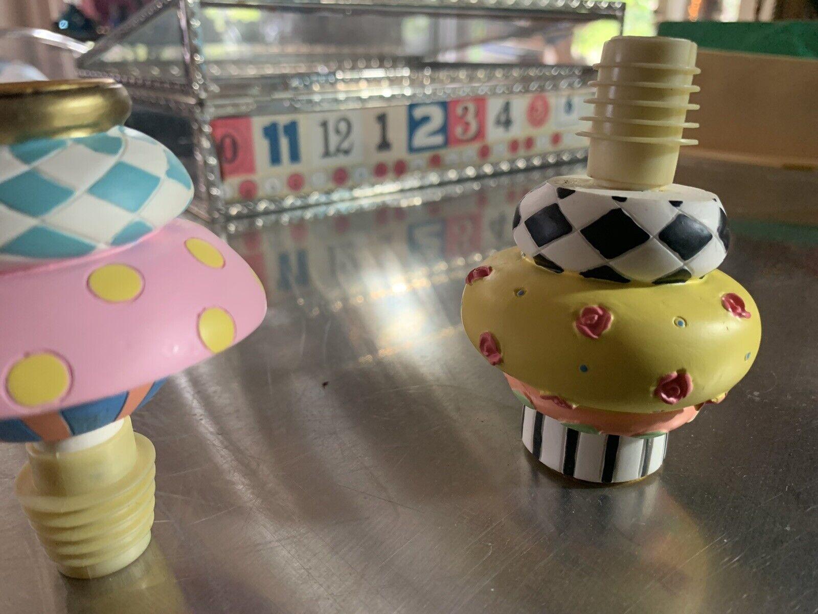 New MacKenzie Childs Teatime Nutcracker Bottle Stopper # 37691--018