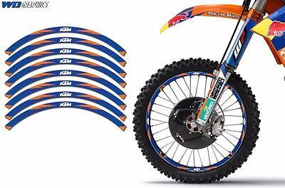 Rim Trim Kit For KTM XC SX XC-R EXC XCF-W Dirt Bike MX Decals Racing Stickers