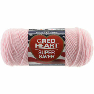 7 Oz Skein Baby Pink 724 4 Ply Worsted Red Heart Super Saver Yarn E300