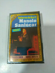 Manolo-Sanlucar-Guitarras-de-Oro-Exitos-Cinta-Cassette-Nueva