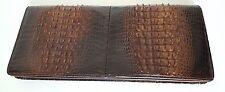 alte Geldbörse Geldbeutel ECHT KROKO Rücken Leder 28 cm Portmonee TOP um 1970