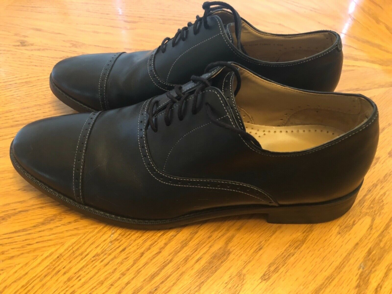 Cole Haan Grand Os Derbies Cambridge en cuir noir Captoe 10.5 m