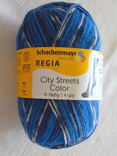 chaussettes laine 100 g = 5,99 € 4-Fädig Regia City Streets Color-Schachenmayr
