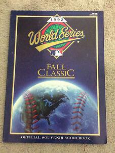 1992 MAJOR LEAGUE BASEBALL World Series Official Souvenir Scorebook MLB