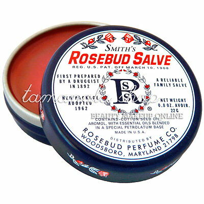 Rosebud Perfume Co. Smith's Rosebud Salve Lip Balm Tin Treatment 0.8oz New (#1)