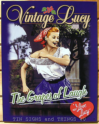 Grapes of Laugh TIN SIGN Vintage I love Lucy funny wine home bar wall decor 1379