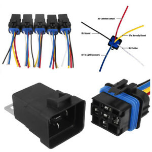 Details about 5Pcs 5-Pin SPDT Car Pickup Boats Relay Switch Harness on