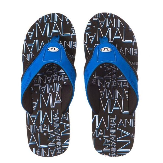 2e0e11fd9 Animal Jekyl Logo Mens Flip Flops in Blue UK 9 5054569598657 for ...
