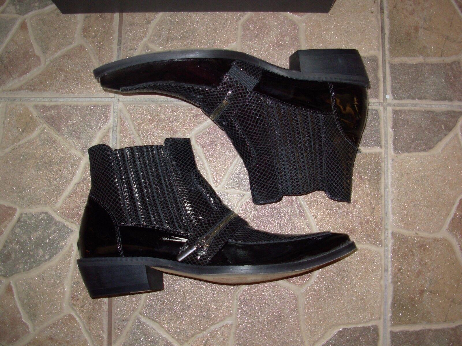 Comodo Black Hand made cowboy western boots eu. 41 Size Leather New design