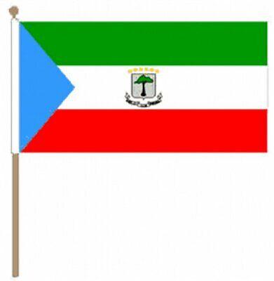 12 Stück Äquatorialguinea (30.5cm X 45.7cm) Große Hand Winkfahne