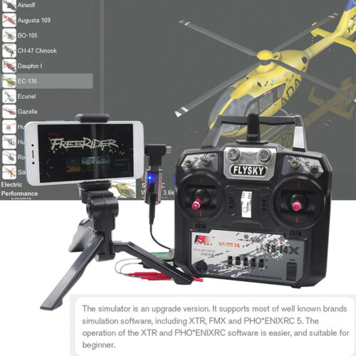 STARTRC 8-in-1 Wireless RC Flight Simulator for Flysky i6x FUTABA Radiolink J7M7