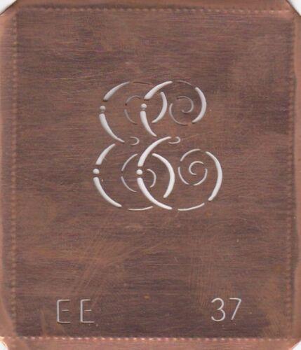 Beau cadeau ancien cuivre monogramme gabarit//le canevas//élégantes EA jusqu/'à EZ
