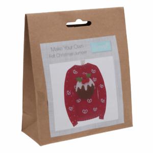 Trimits hacer su propio kit de decoración de Navidad puente de fieltro