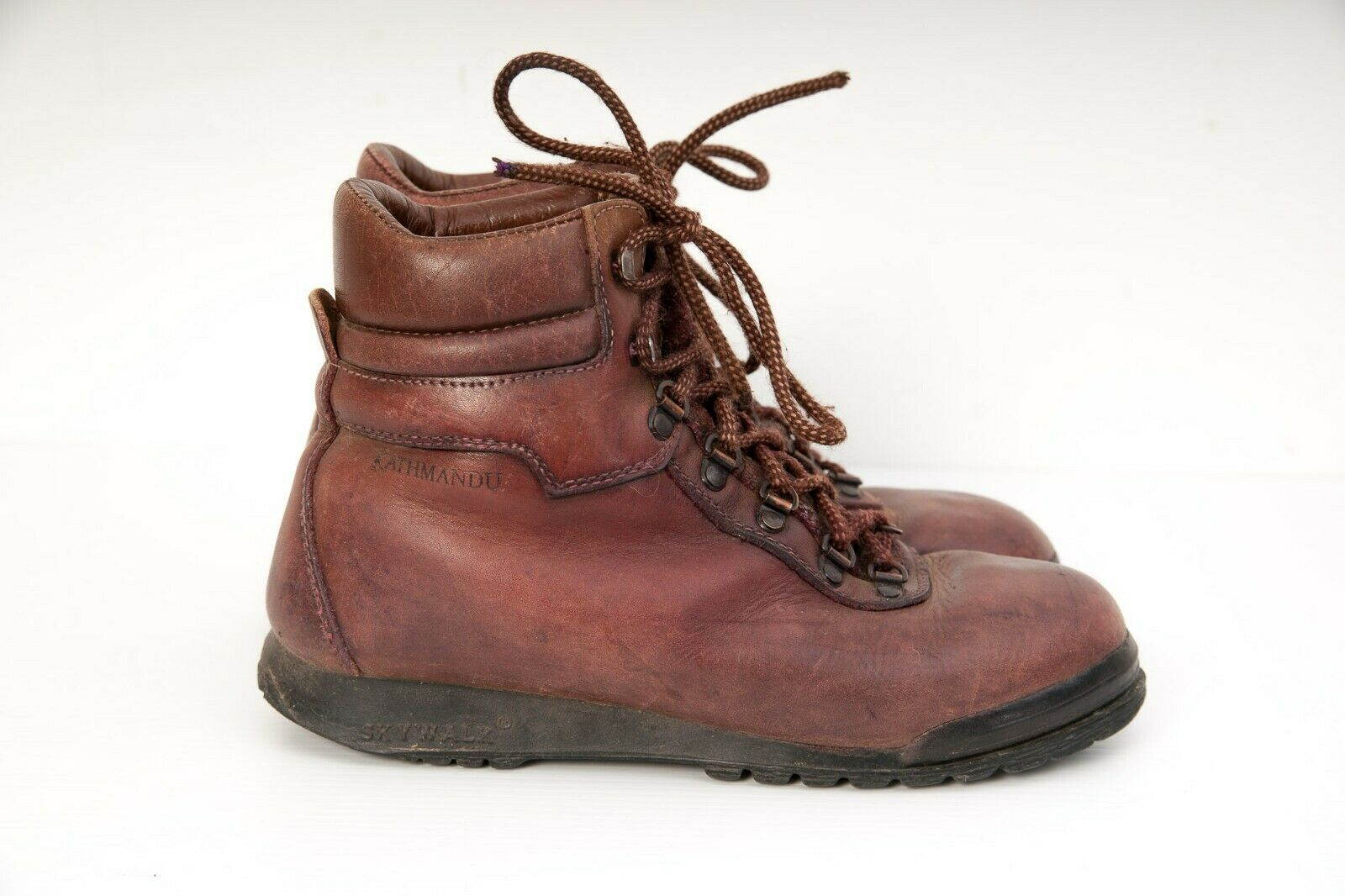 KATHMANDU Leather  SKYWALK Sympatex Hiking Walking Boots Size Brown ITALY  clients first reputation first