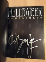 Signed- The Hellraiser Chronicles Clive Barker + Photo Pb Unread