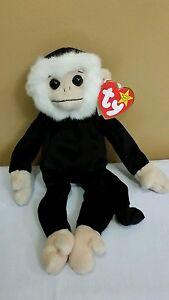86b2c13bd9d Ty Beanie Baby Mooch the Monkey w Tag Spelling Error GASPORT ...