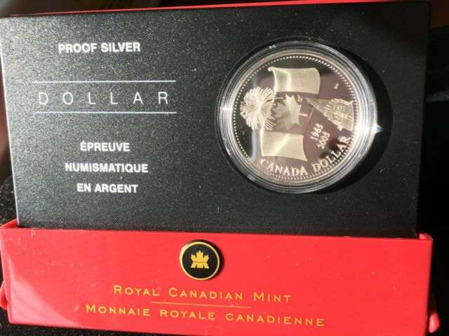 **2005** RCM, 40th Anniv. Canadian Flag, Proof Silver Dollar.