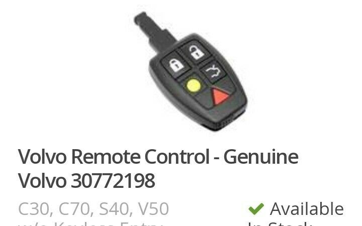 Genuine Remote Control Without Keyless Entry 30772198