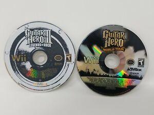 Nintendo Wii Game Lot of 2 Guitar Hero World Tour ...