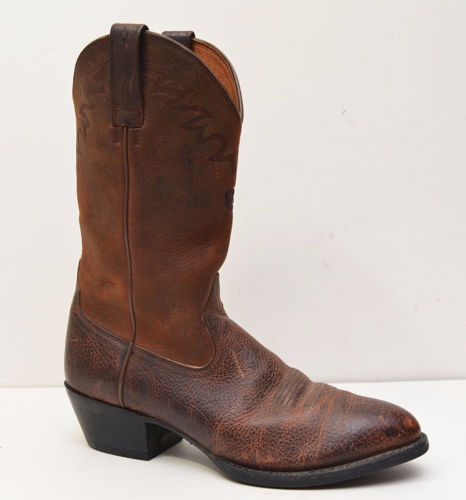 Ariat Mens Distressed Leather Sedona Brown Western Boot size 9.5 D