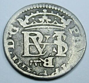 1600s-Spanish-Silver-1-2-Reales-Piece-of-8-Real-Antique-Colonial-Era-Pirate-Coin