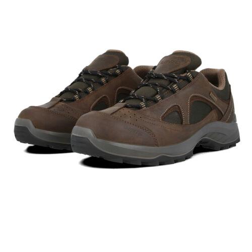 Hi-Tec Homme Walk-Lite Camino Chaussures De Marche Marron Sports plein air Baskets