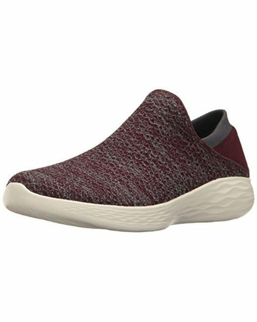 SKECHERS YOU WALK GOGA MAX SLIP ON chaussures,BURGUNDY,Taille 6,BNWT