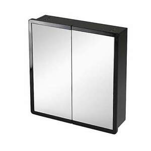 Black Double Mirror Wall Cabinet