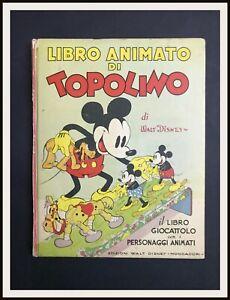⭐ LIBRO ANIMATO DI TOPOLINO - Disney Mondadori -1936- DISNEYANA.IT ⭐