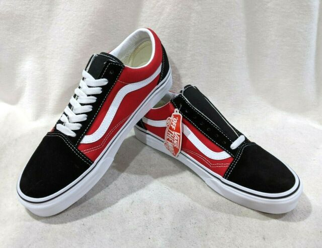 Vans Men's Old Skool OTW Sidewall BlackRed Skate Shoes Assorted Sizes NWB