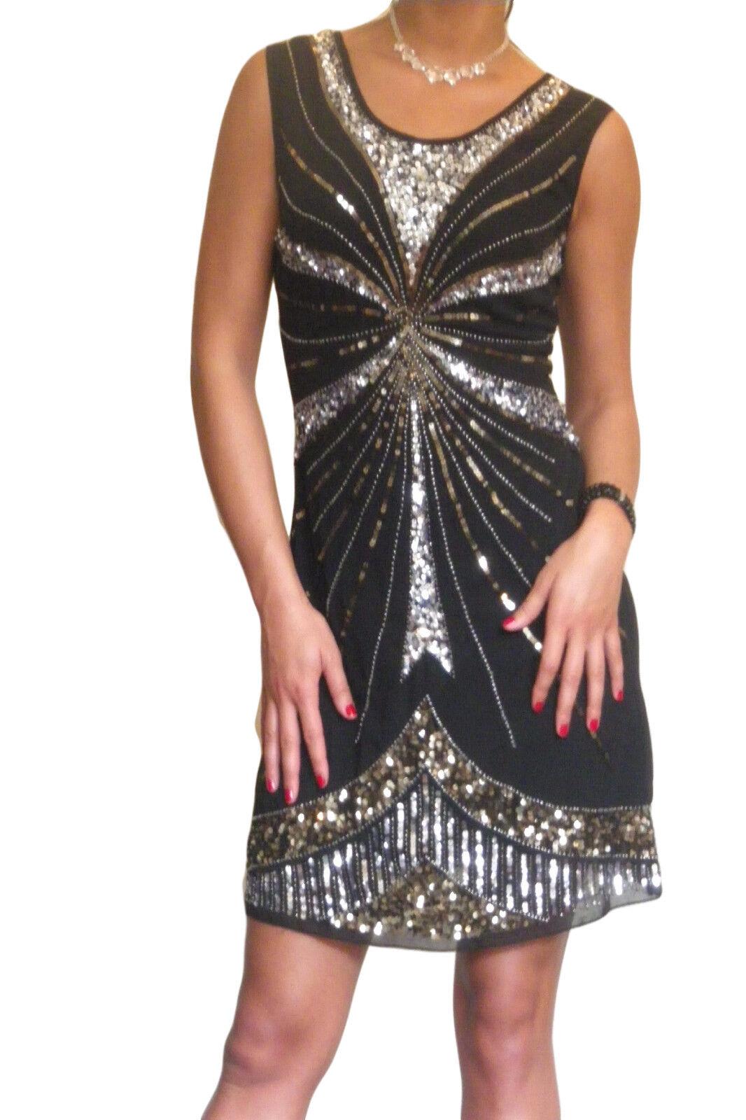 Damenkleid Gatsby 1920 Flapper Paillette Party Abend Mini Größe 8 8 8 10 12 14 16 18 | Neuheit Spielzeug  | Große Ausverkauf  | Vorzüglich  ab330f